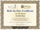 Hole In One Certificate Logo