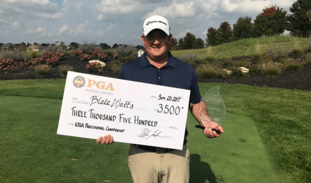 Defending Champion Wins 2018 Kentucky PGA Professional Title!
